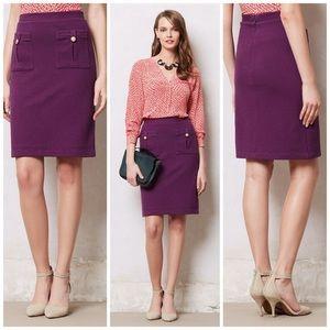 Anthro Vanessa Virginia Purple Bonny Knit Skirt